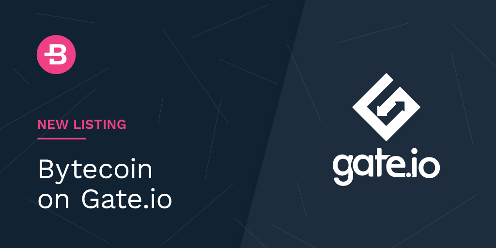 Bytecoin partnership with gate.io