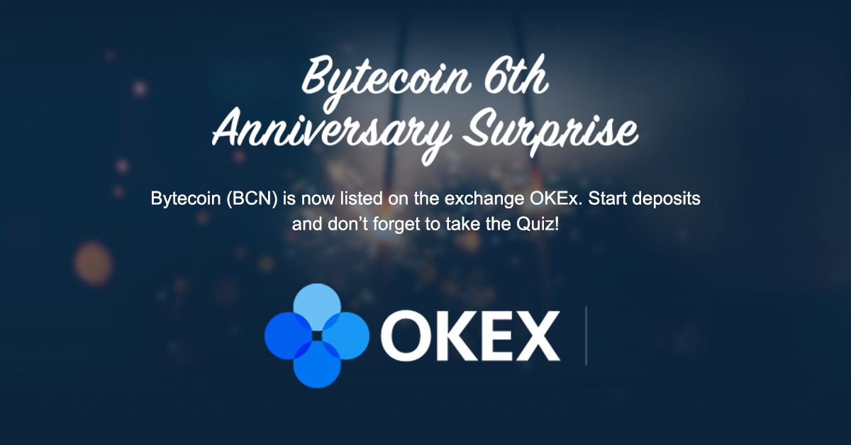 Bytecoin 6th Anniversary Surprise