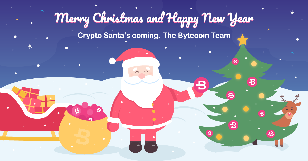 Merry Christmas and Happy New Year from the Bytecoin Team!