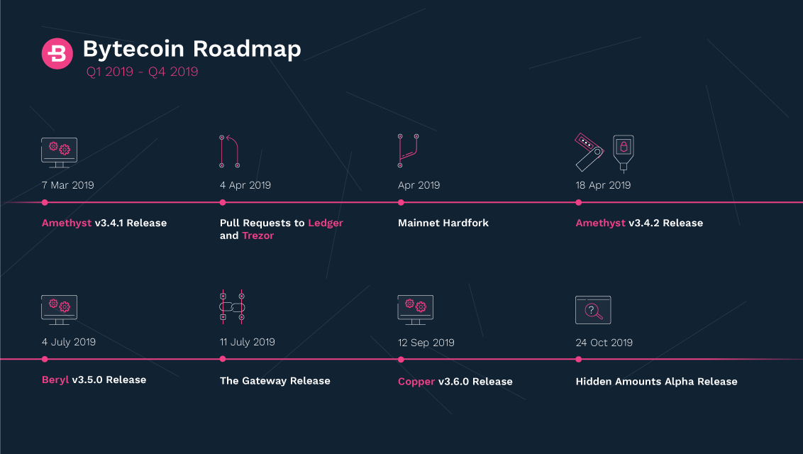 Bytecoin 2019 Roadmap