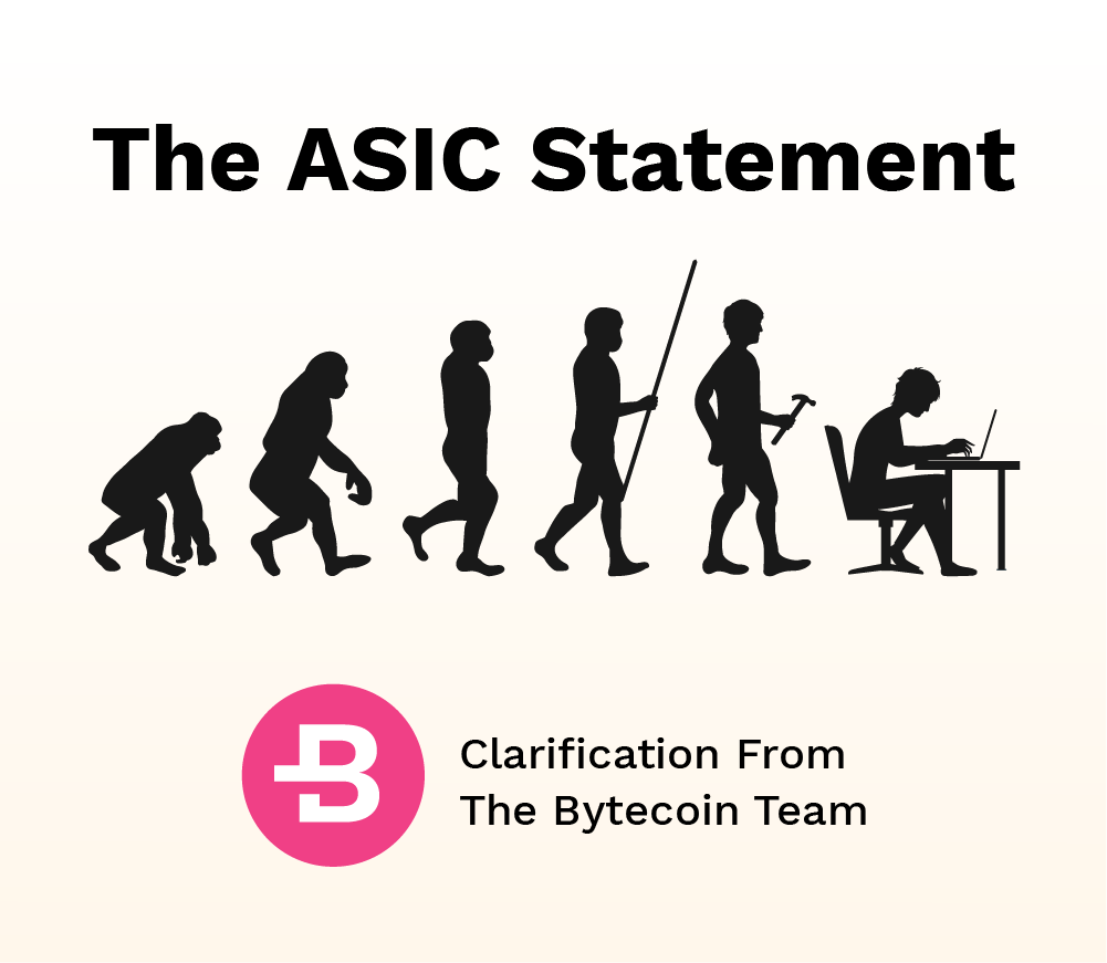 The ASIC Statement: Clarification From The Bytecoin Team