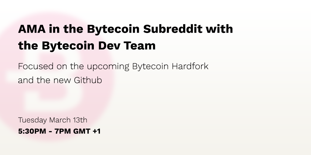 First AMA with the Bytecoin Dev Team